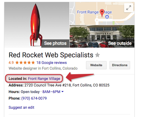 business within business google listing