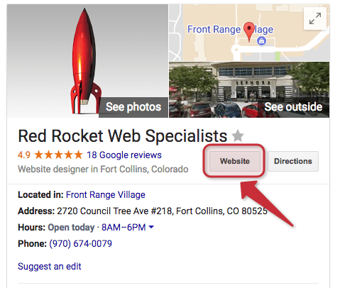 Red Rocket Google My Business