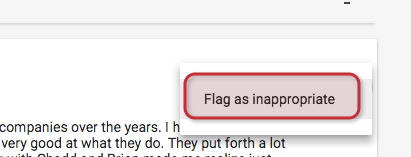 flagging spammy reviews