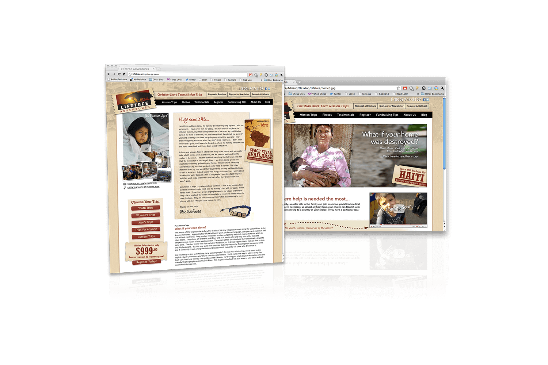 lifetree-mission-trip-website-design