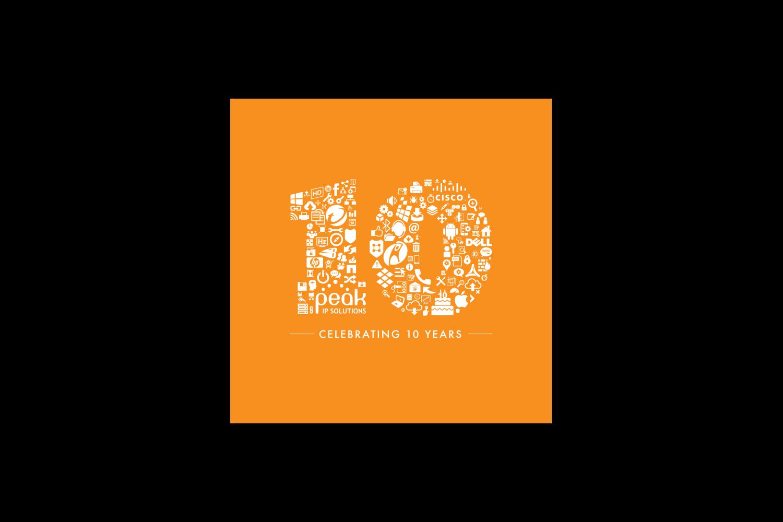 peak-ip-10-year-logo-design